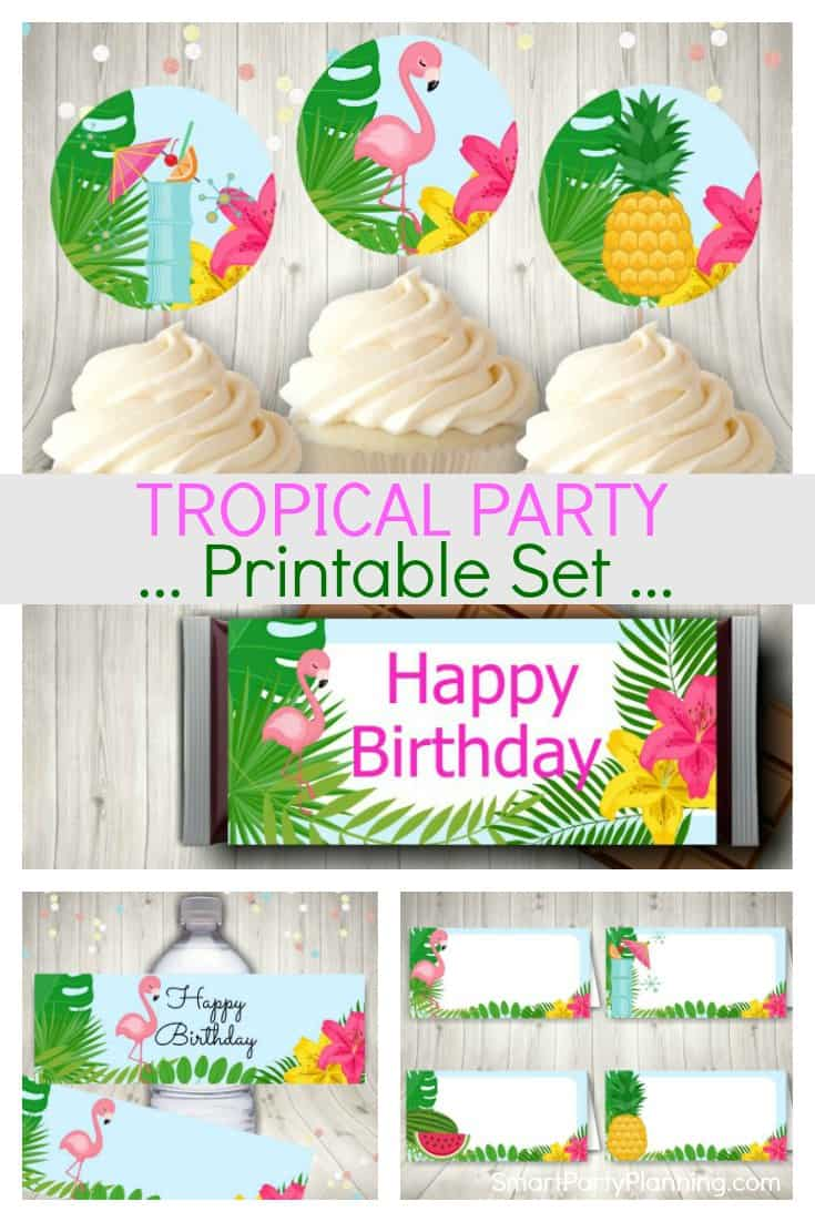 Tropical Party Printables Set