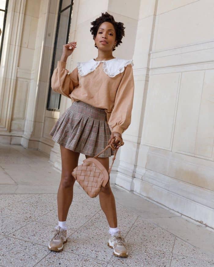 slipintostyle in a mini skirt