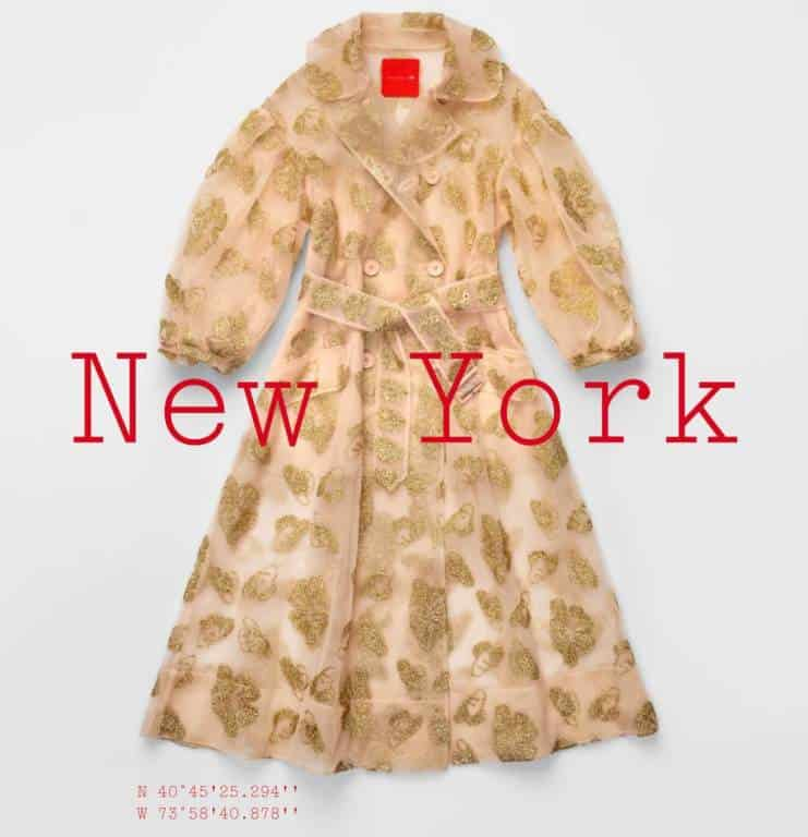 tinsel-patterned tulle coat simone rocha x h&m city edition