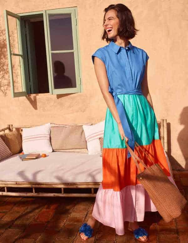 best petite summer dresses - boden betty maxi shirt dress