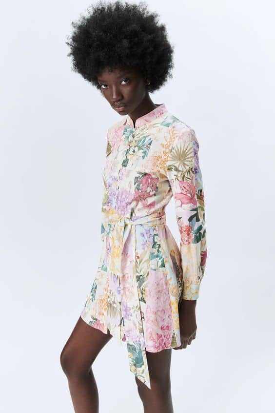 Floral Print Dress Zara