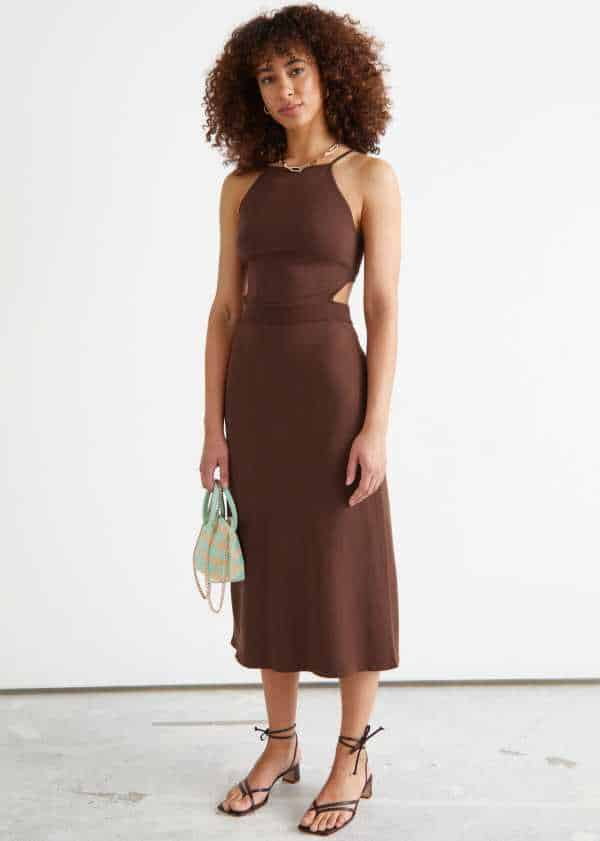 Best & Other Stories Summer Dresses - Ribbed Cut Out Midi Dress