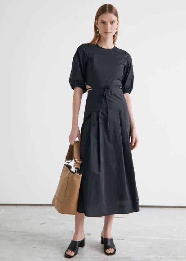 Voluminous Cut Out Midi Dress & other stories