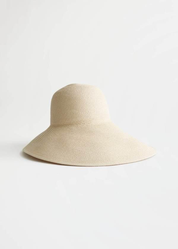 & Other Stories Wide Brim Straw Ribbon Hat