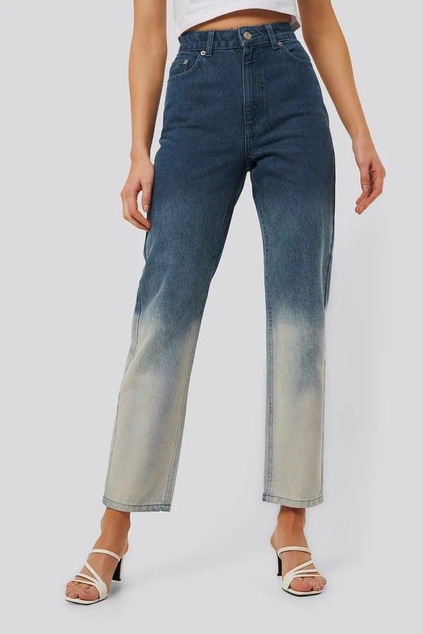 NA-KD Dip Dye Denim Jeans