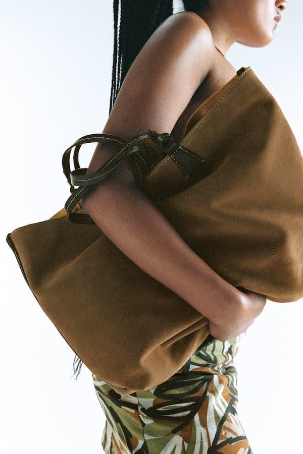 Reversible Split Suede Bag, £59.99, Zara