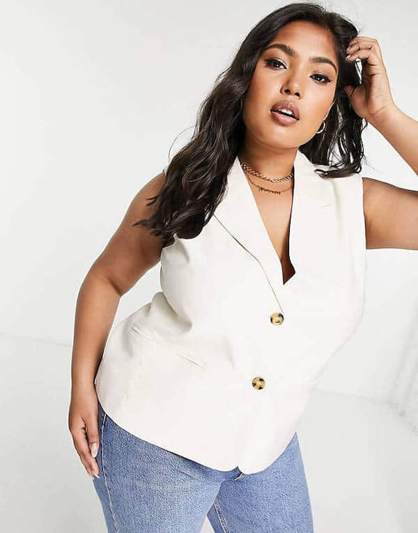 Only Curve Tailored Waistcoat ASOS