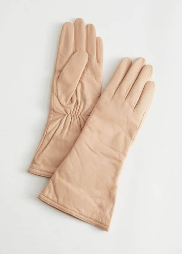 Cream Fitted Gloves, £55, & Other Stories