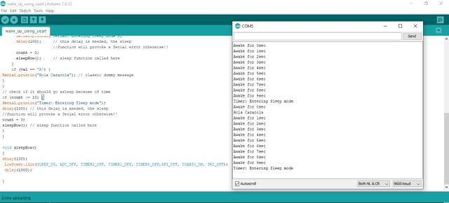 Arduino Sleep