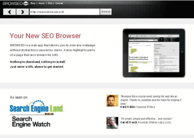 o page seo for browseo