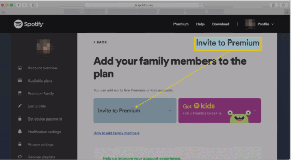 how-to-set-parental-control-on-spotify-family-accounts-click-invite-to-premium