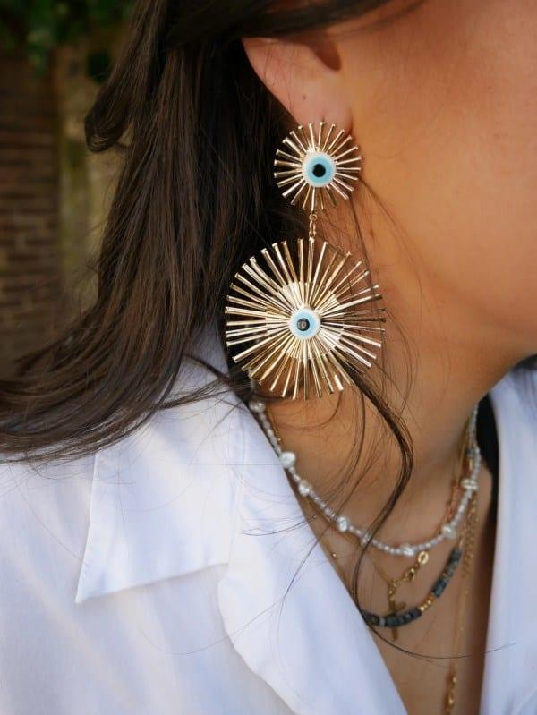 Sun Daze Earrings Beaches & Cream