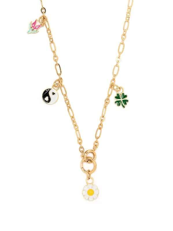 Image 1 of Wilhelmina Garcia multi-charm necklace