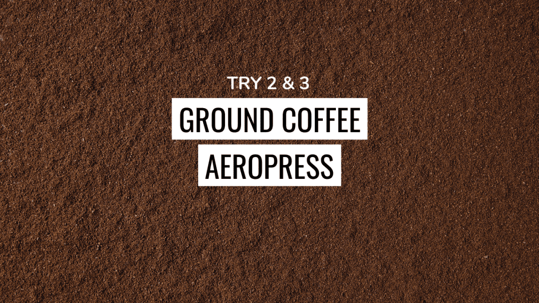 Ground Coffee in AeroPress for cold brew
