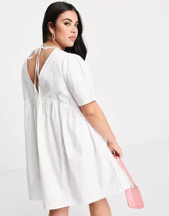Tie-back Mini Smock Dress, £20, ASOS Collusion Plus