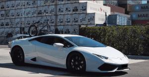 Lamborghini Huracan with a SeaSucker Talon 1-Bike Rack