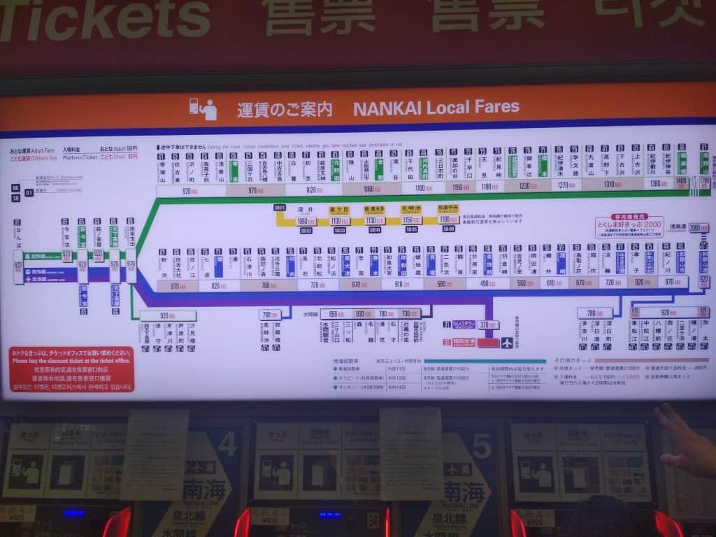 Aeropuerto Osaka Precios Nankai 1024x768 - Lugares de interés en Osaka: todo lo que tienes que saber