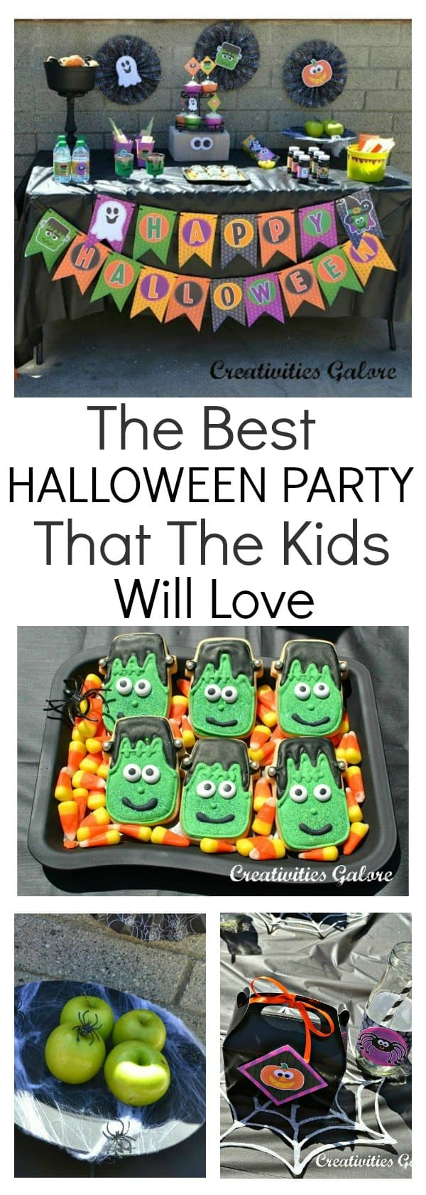 Looking for some Halloween party ideas for the kids? This party has it all. Awesome Halloween decorations, food, and it's as creepy as they come. This is a party that the kids will love with some craft ideas to keep them entertained.