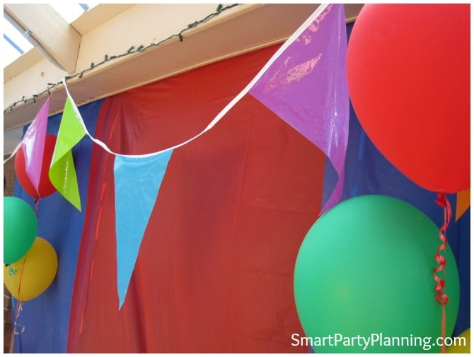 Carnival themed birthday party decoration