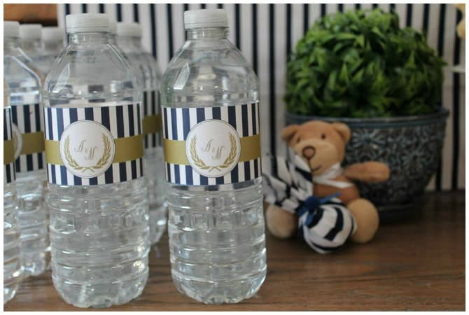 Teddy Bear Party Water Bottles