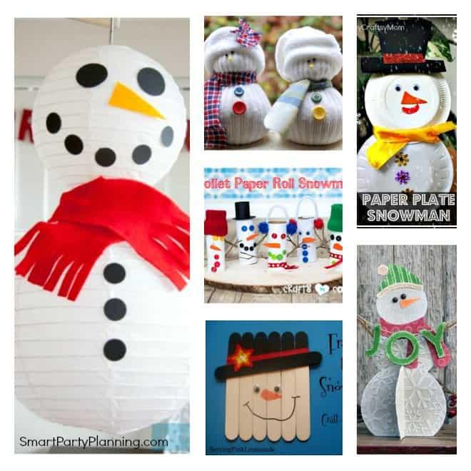 Simple snowman craft ideas