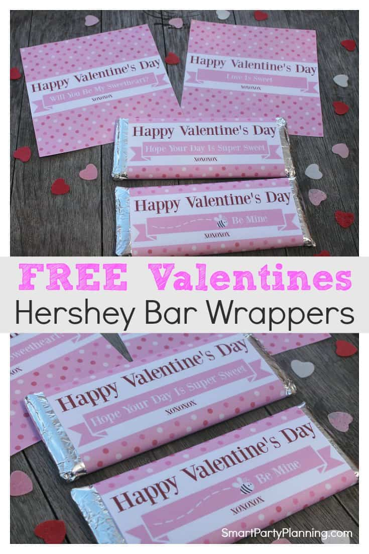 Free Valentines Hershey Bar Wrappers