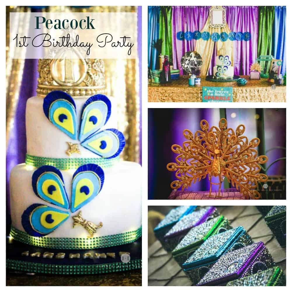 Peacock 1st Birthday Party