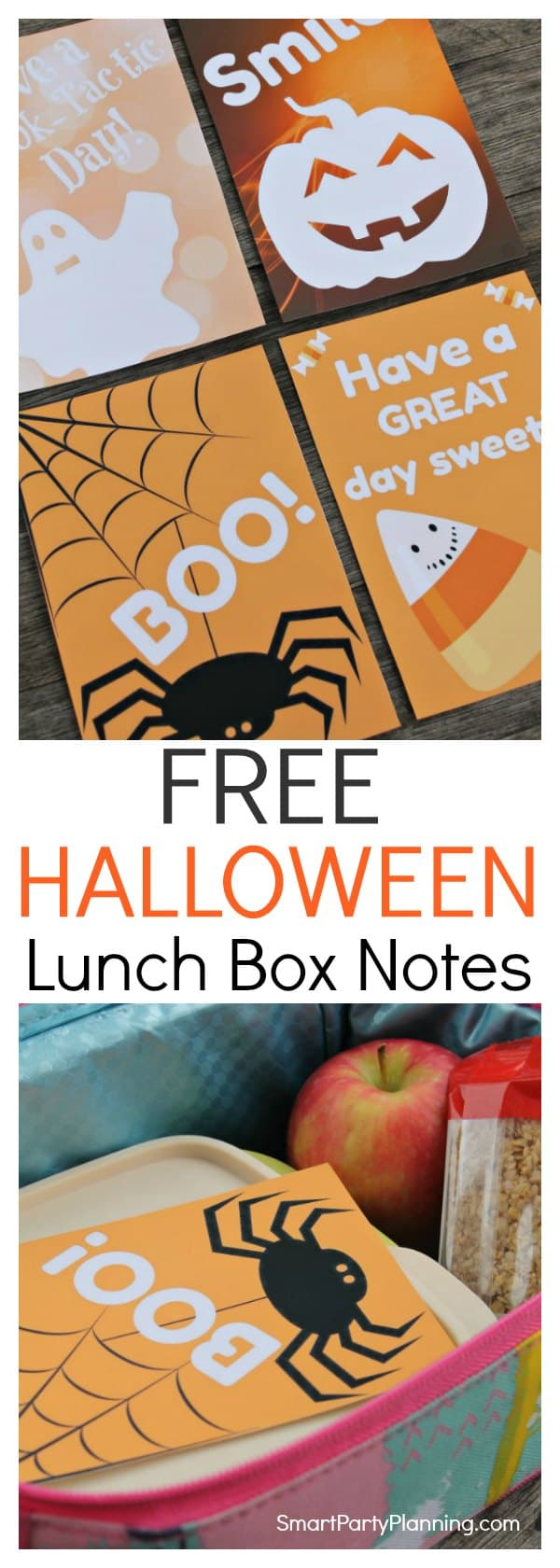 Print off some fun Halloween lunch box notes for the kids today. They are the easiest way to surprise your little one, and they will definitely put a smile on their face. The free Halloween printable's are easy to download. Once printed, simply cut out and have some spooky Halloween fun.