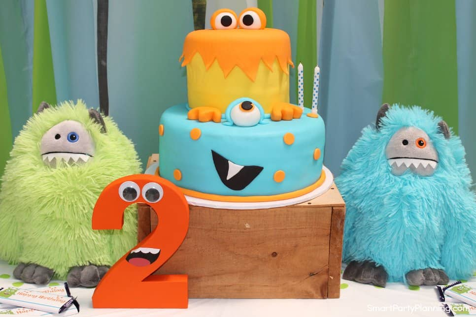 Monsters and birthday cake