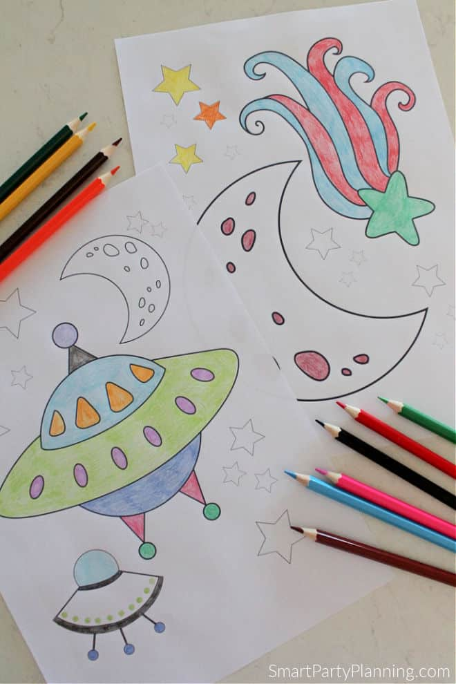 Alien space ship coloring pages