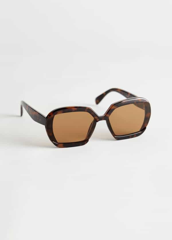 & Other Stories Squared Sunglasses
