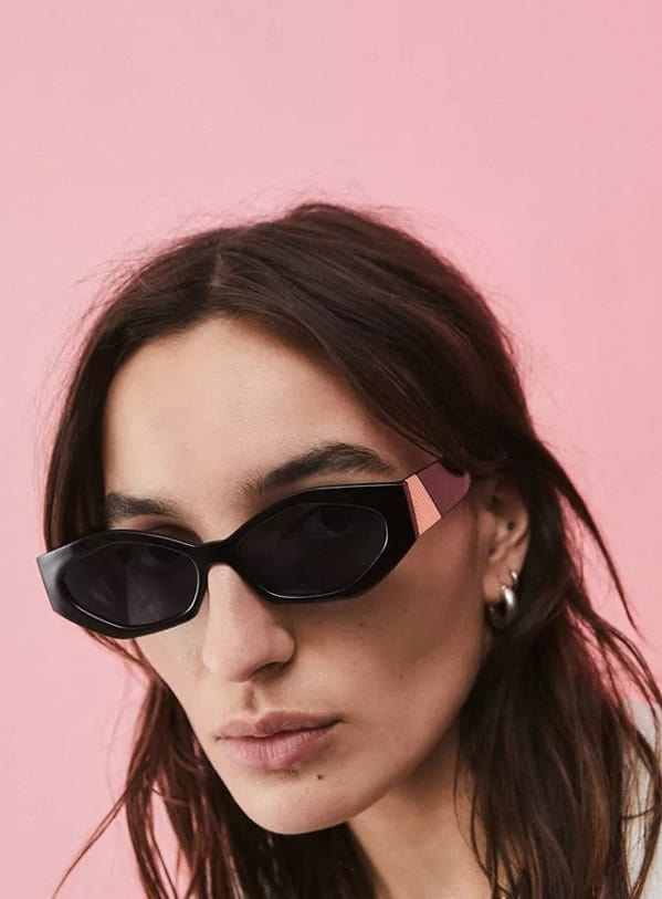 Urban Outfitters Angled Cat Eye Sunglasses