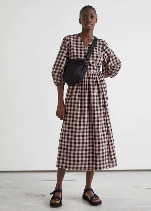 Relaxed Midi Wrap Dress & other stories