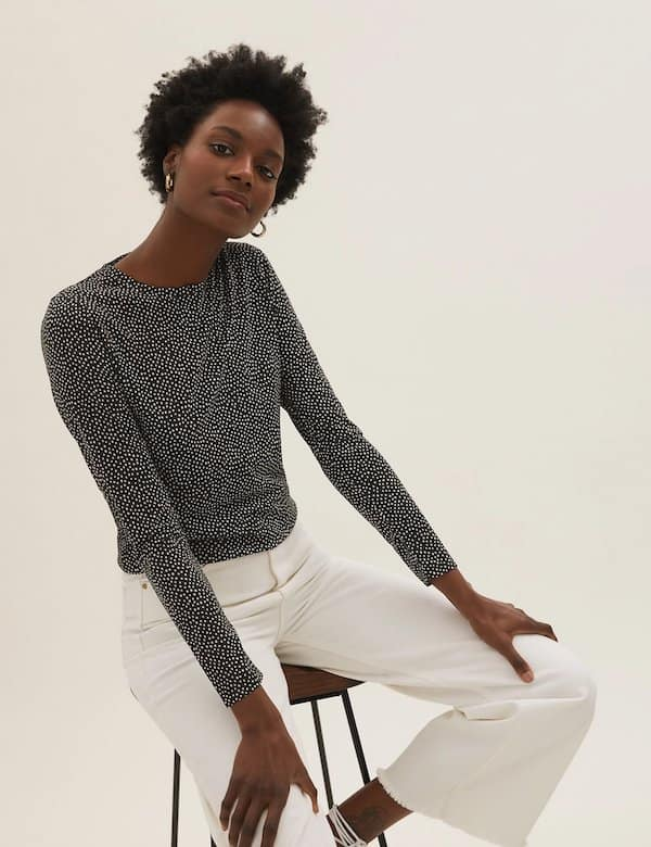 Relaxed Long Sleeve Top Marks & Spencer