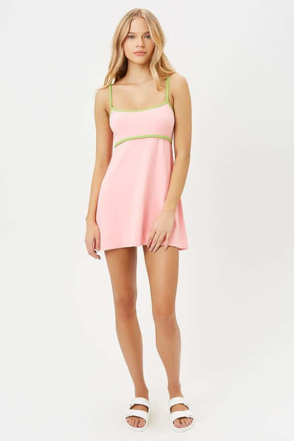 Ophelia Terry Dress in Summer Melon