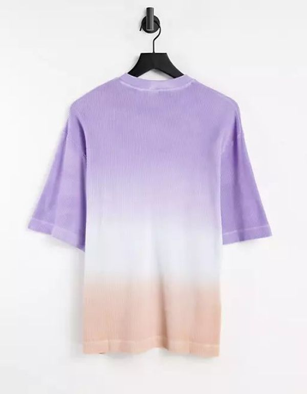 COLLUSION Ombre Waffle Oversized Shirt