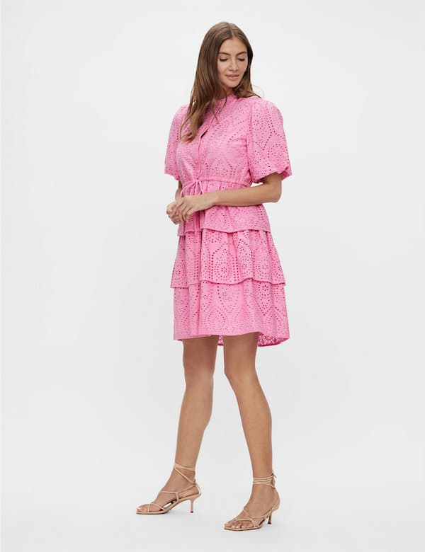 Marks & Spencer Organic Cotton Embroidered Waisted Dress