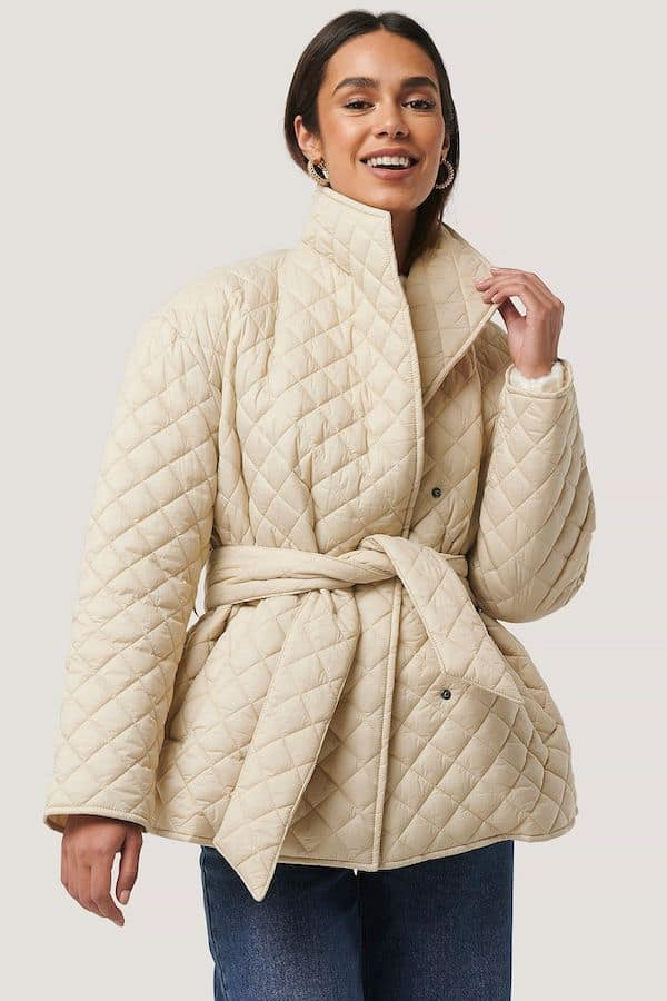 NA-KD Quilted Short Jacket