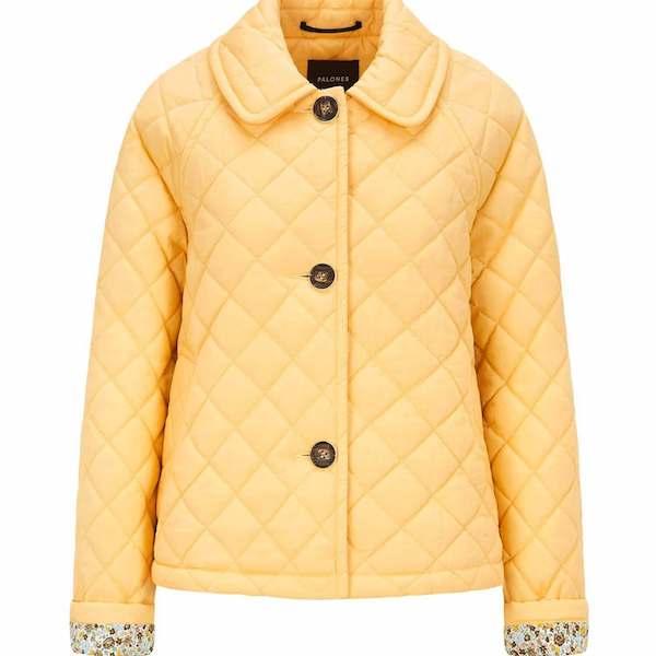 Palones Crop Yellow Quilt Coat