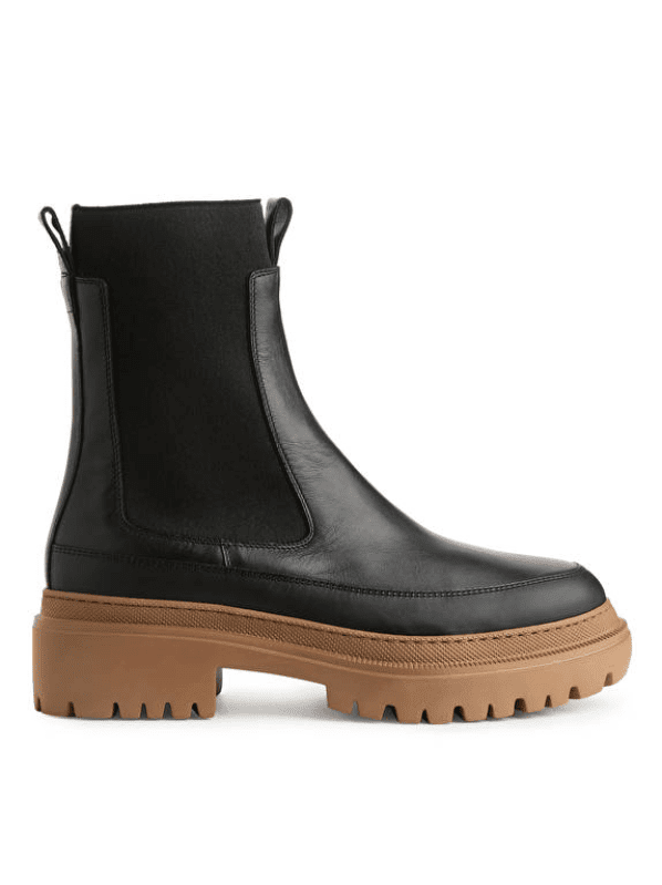 Chunky-Sole Leather Boots Arket