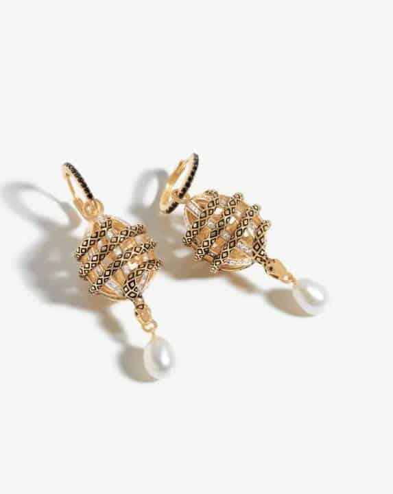 Harris Reed Fine Uncaged Drop Earrings Missoma