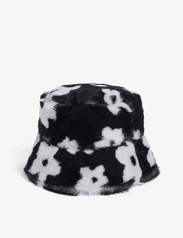 Floral Print Faux Fur Bucket Hat Lolita Jade at Selfridges