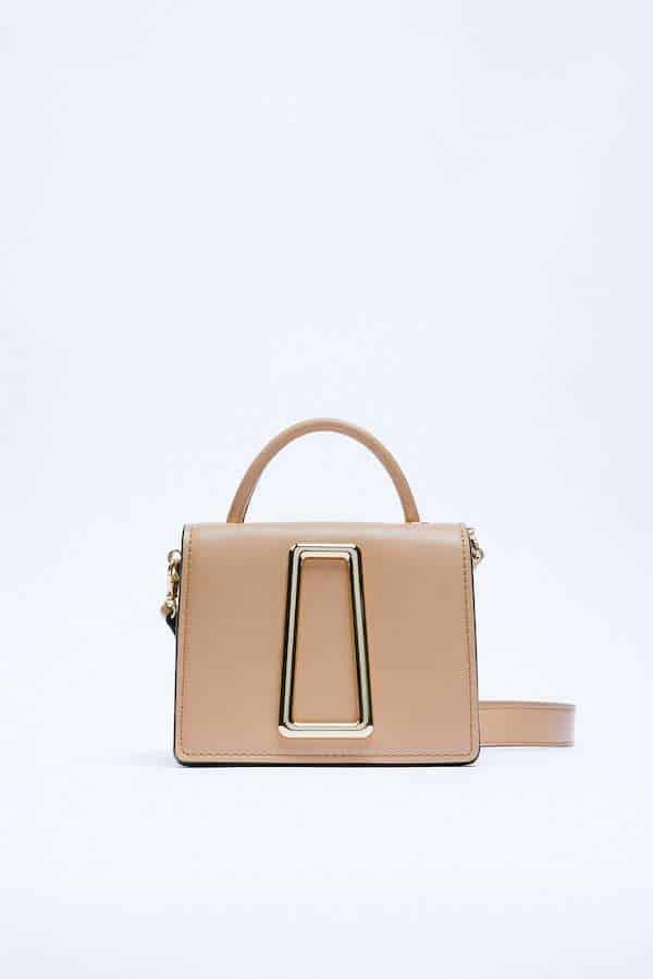 Zara City Bag with Metallic Detail