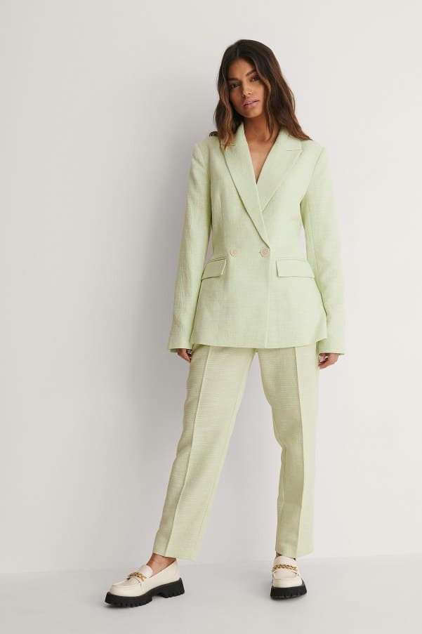 Green Structured Blazer and Trousers NA-KD