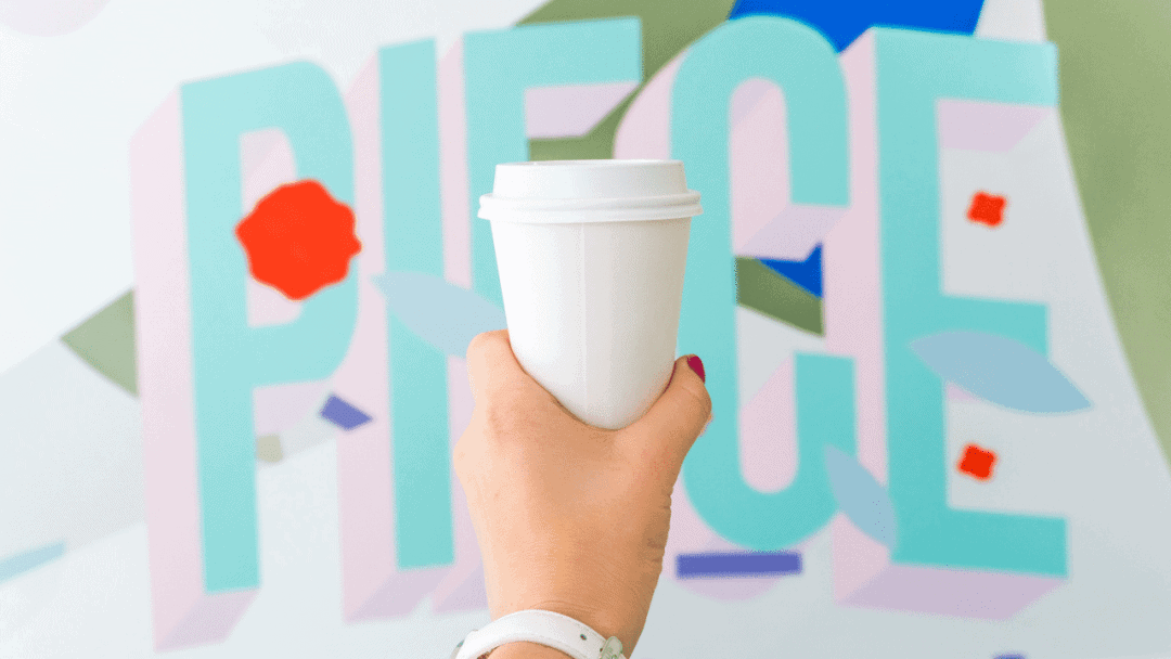 coffee in front of a wall