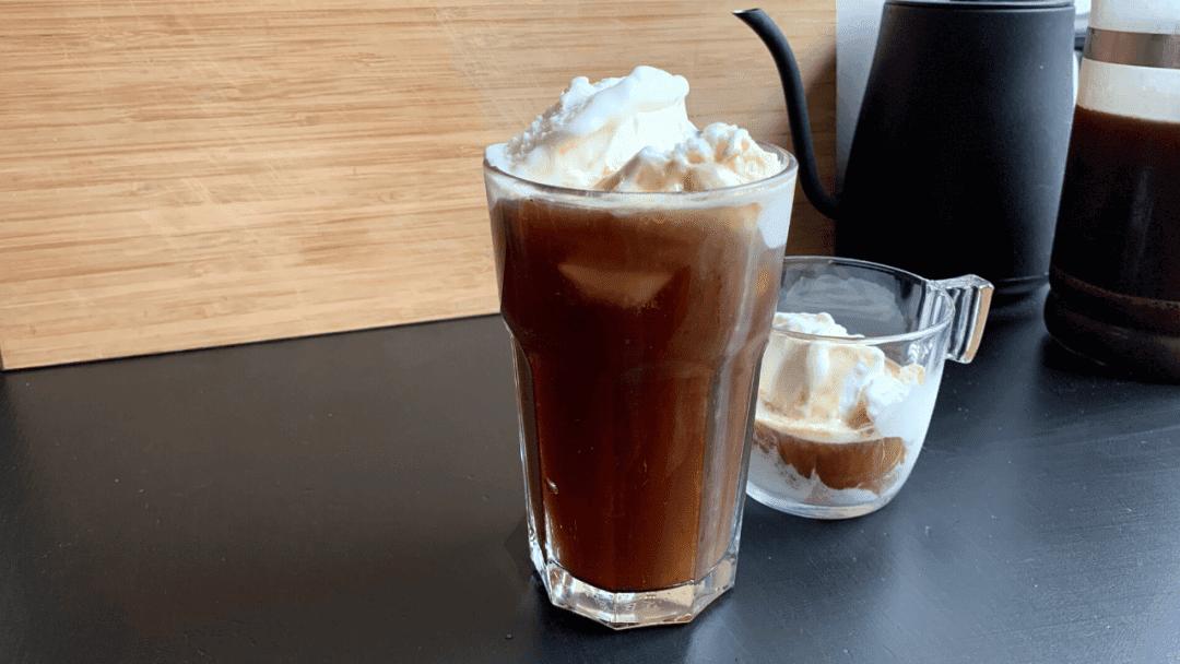 Coffee Float using Cold Brew and vanilla ice cream