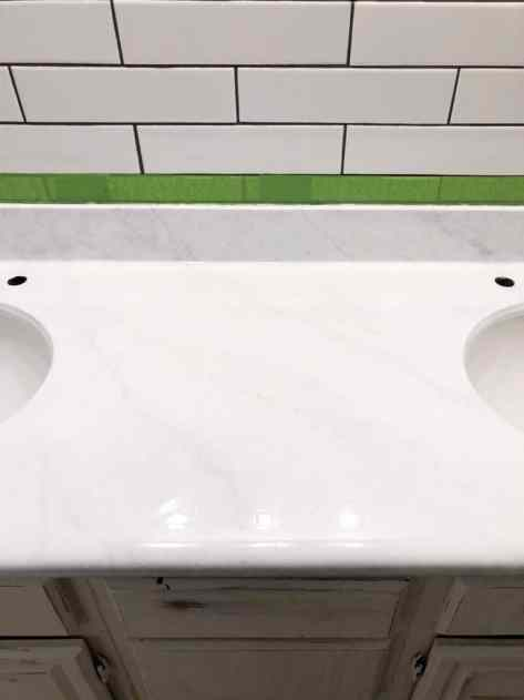 DIY painted counters