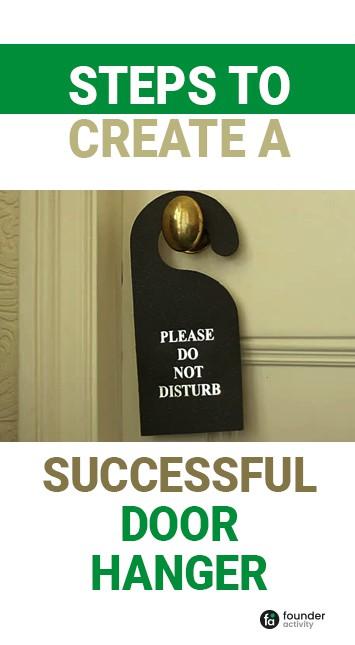 steps to create a successful door hanger