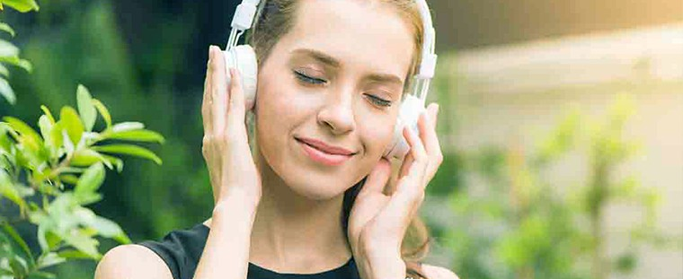 listening to music girl watch head phone  How to Make a Month Go By Fast