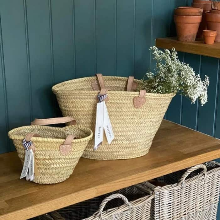 The Amelie Market Basket / Hand Woven Basket with Beautiful image 0